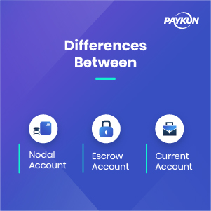 Key Difference between Nodal, Escrow and Current Account